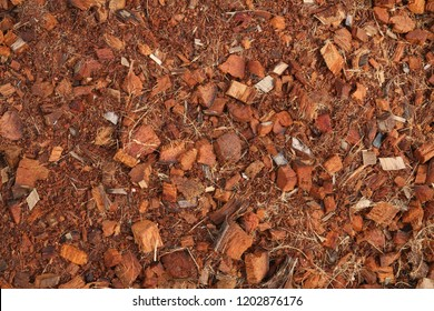 Peat soil with coconut spathe fiber texture background