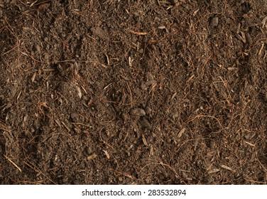 Peat soil texture background