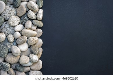 Pebble abstract background with space for text