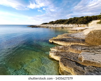pebble beach of adriatic sea