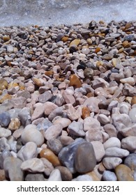 Pebble beach by the Adriatic Sea in Split, Croatia