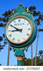 PEBBLE BEACH, CALIFORNIA APRIL 10, 2015 :  Poppy Hills Golf Course is the newest golf course in Pebble Beach, april 10, 2015, in Monterey, California, USA