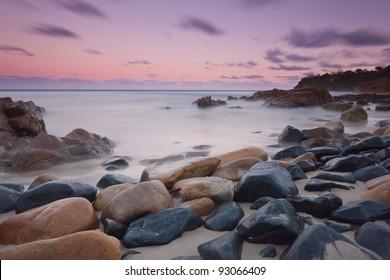 Pebble beach at Coolum, Queensland