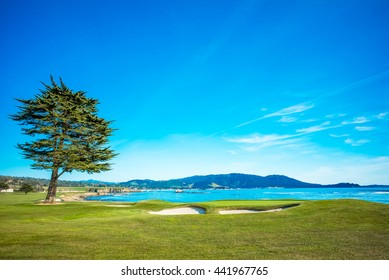 Pebble Beach Golf Course 18th Hole Green