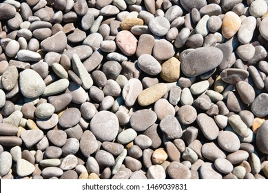 pebble on the beach as a background