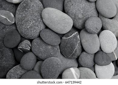 pebble stone background. Flat lay.