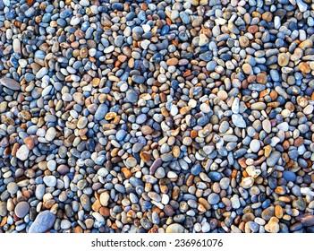Pebbles Background, beach from Devon, England