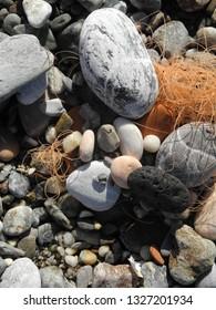 Pebbles at a beach