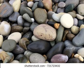 pebbles of the beach photo wallpaper