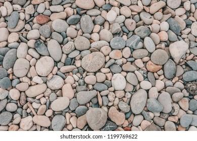 Pebbles closeup on the seashore
