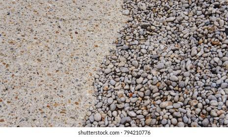 Pebbles of etretat normandy