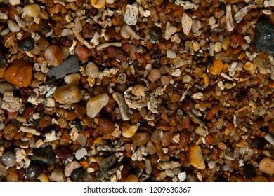 Pebbles everywhere on the beach in Mirissa, Sri Lanka
