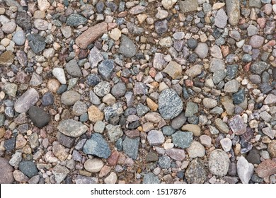 pebbles in the ground