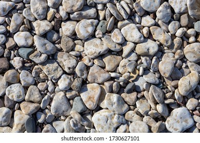 Pebbles on a beach background