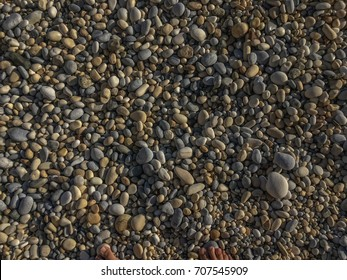 Pebbles on a beach of Ikaria island, Greece