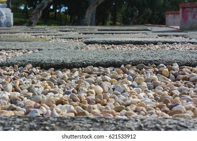 Pebbles on the ground