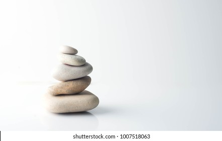 pebbles on a white background