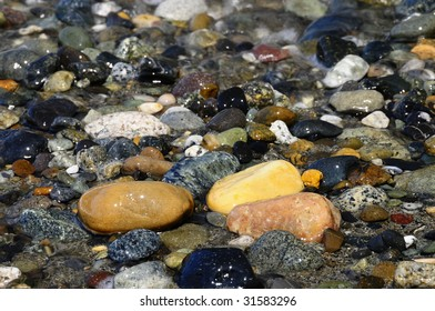 Pebbles and Rocks on the Coast of Washington State