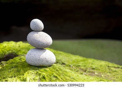 pebbles Stone pyramid stack