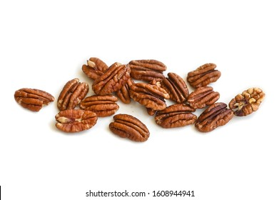 Pecan on white background - isolated