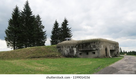 Pechotni srub na Holem - stronghold from 2nd World War in Orlicke hory mountains in Czech Republic