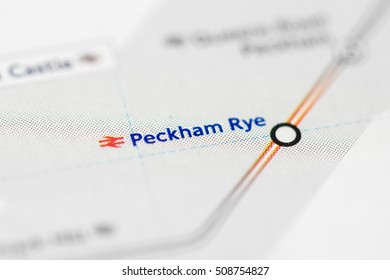 Peckham Rye Station. London Overground. London. UK.