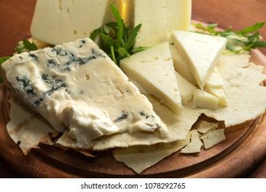 Pecorino and Gorgonzola, Italian Cheeses