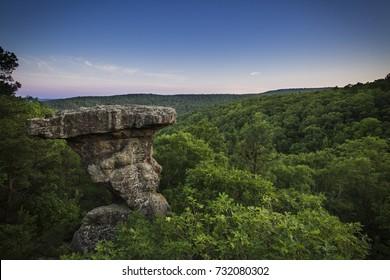 Pedestal Rock in the Ozark National Forest in Central Arkansas.