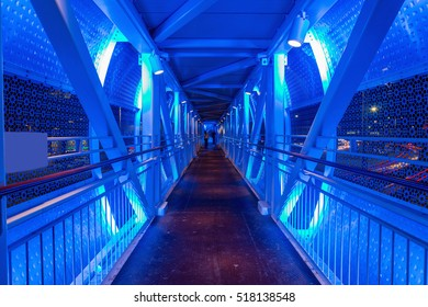 Pedestrian bridge in Abu Dhabi, United Arab Emirates