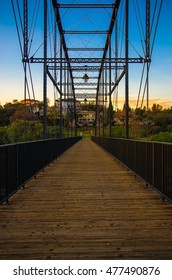Pedestrian bridge across the American River - Folsom, California