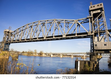 Pedestrian Bridge in Little Rock, Arkansas, USA