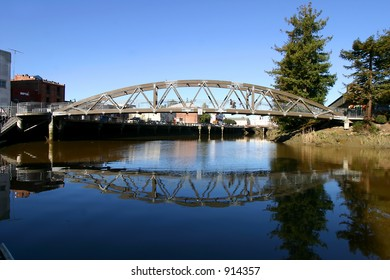 pedestrian bridge reflection