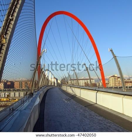c036eec40f Pedestrian Bridge Turin Torino Italy Stock Photo (Edit Now) 47402050 ...