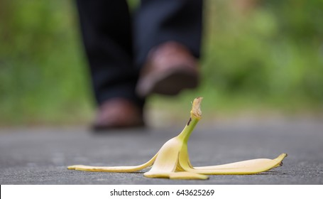 A pedestrian could slip on an old banana skin