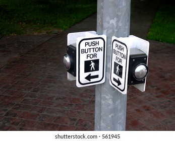 Pedestrian crosswalk buttons