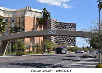 Pedestrian foot bridge across University Drive in Tempe Arizona 3/17/18
