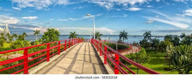 Pedestrian overpass in Panama city, Panama