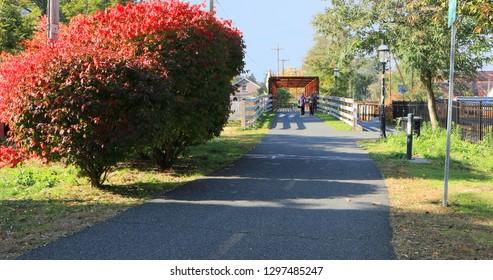 A Pedestrian passageway in Northampton, Massachusetts
