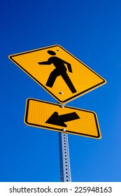 """The """"Pedestrian"""" sign with arrow."""
