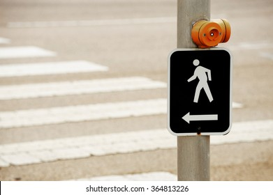 pedestrian sign and push button