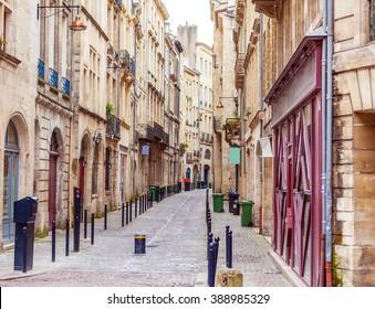 Pedestrian Street in Old City, Bordeaux, France