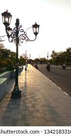 pedestrian walkway in the afternoon located in Alun Alun Wates Kulon Progo
