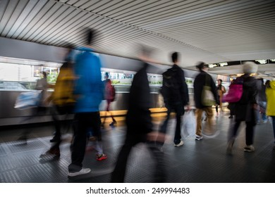 Pedestrians in Central of Hong Kong