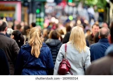 Pedestrians / shoppers on street