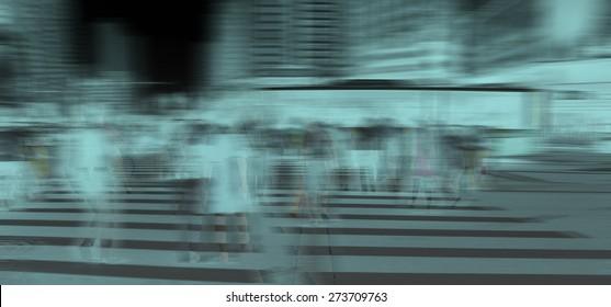 Pedestrians at the zebra crossing