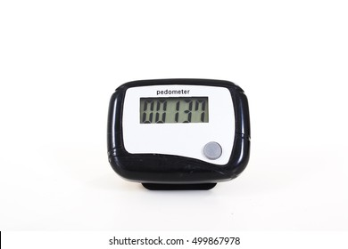 Pedometer for walking exercise.