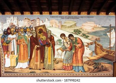 PEDOULAS, CYPRUS/GREECE - JULY 21 : Kykkos Monastery near Pedoulas in Cyprus on July 21, 2009