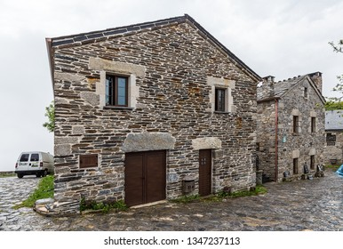 PEDRAFITA DEL CEBRERO, SPAIN - JUN 13, 2017: Traditional stone houses