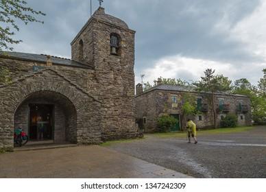 PEDRAFITA DEL CEBRERO, SPAIN - JUN 13, 2017: Medieval church