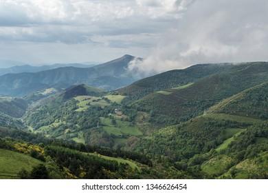 Pedrafita del Cebrero, Spain. Mountain landscape